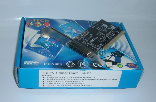 Card PCI to DB25F CA007
