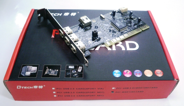 Card PCI to Firewire - 3 Port + 1 Port CA015