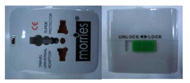 International Adaptor with surge protector Morries MS-001