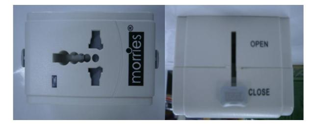 International Adaptor with surge protector Morries MS-002