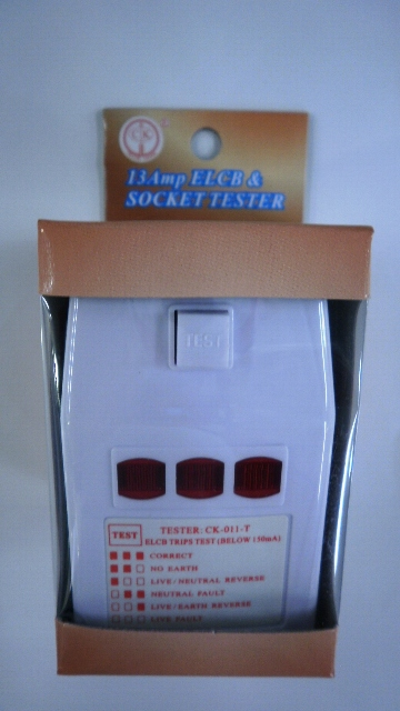 Socket Tester with 13 Amp ELCB